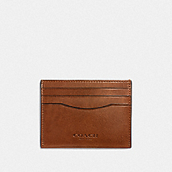 CARD CASE - DARK SADDLE - COACH F21795