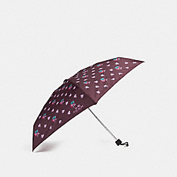COACH MINI WILDFLOWER UMBRELLA - SILVER/OXBLOOD - F21799