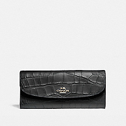 COACH SOFT WALLET - IMITATION GOLD/BLACK - F21830