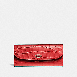 COACH SOFT WALLET - IMITATION GOLD/TRUE RED - F21830