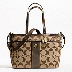 COACH SIGNATURE STRIPE MULTIFUNCTION - ONE COLOR - F21865