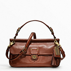 COACH LEATHER CITY WILLIS CROSSBODY - BRITISH TAN - F22062