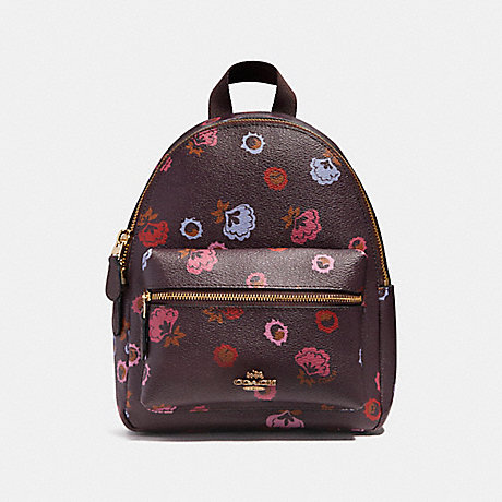COACH f22234 MINI CHARLIE BACKPACK WITH PRIMROSE FLORAL PRINT IMFCG