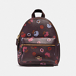 COACH MINI CHARLIE BACKPACK WITH PRIMROSE FLORAL PRINT - IMFCG - F22234