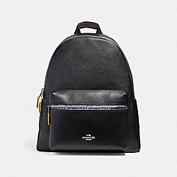 COACH CHARLIE BACKPACK WITH EDGEPAINT - SILVER/BLACK MULTI - F22235