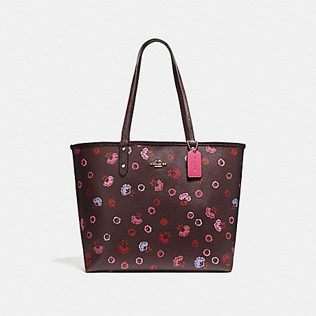 COACH f22236 REVERSIBLE CITY TOTE WITH PRIMROSE FLORAL PRINT IMFCG