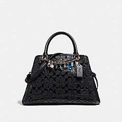 COACH SMALL MARGOT CARRYALL WITH BRACELET - LIGHT GOLD/BLACK - F22259