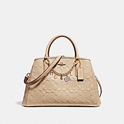 COACH SMALL MARGOT CARRYALL WITH BRACELET - LIGHT GOLD/PLATINUM - F22259