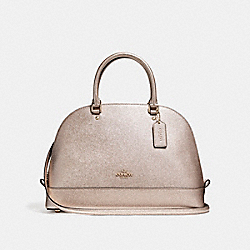 COACH SIERRA SATCHEL - LIGHT GOLD/PLATINUM - F22313