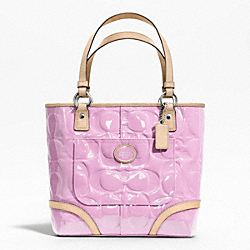 COACH PEYTON EMBOSSED PATENT TOTE - ONE COLOR - F22322