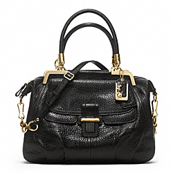 MADISON PINNACLE PEBBLED LEATHER LILLY - f22330 - GOLD/BLACK
