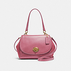 COACH FAYE CARRYALL - LIGHT GOLD/ROUGE - F22348