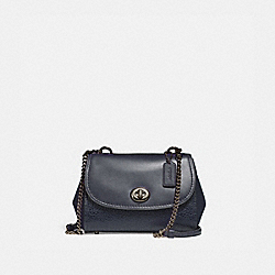FAYE CROSSBODY - f22349 - ANTIQUE NICKEL/MIDNIGHT