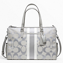 COACH BABY BAG SIGNATURE STRIPE DOUBLE ZIP TOTE - ONE COLOR - F22364