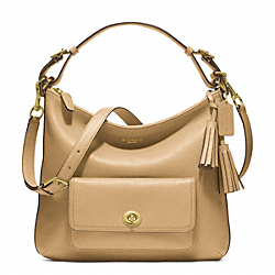 COACH COURTENAY HOBO IN LEATHER - ONE COLOR - F22381