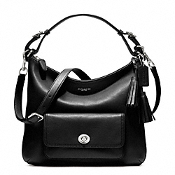 LEATHER COURTENAY HOBO - f22381 - SILVER/BLACK