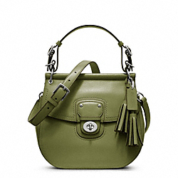 COACH LEATHER WILLIS - SILVER/JUNIPER - F22382