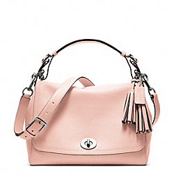 COACH LEATHER ROMY TOP HANDLE - SILVER/BLUSH - F22383
