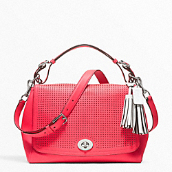 COACH PERFORATED LEATHER ROMY TOP HANDLE - ONE COLOR - F22386
