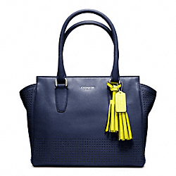 COACH PERFORATED LEATHER CANDACE CARRYALL - ONE COLOR - F22388