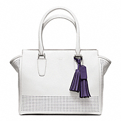 COACH PERFORATED LEATHER MEDIUM CANDACE CARRYALL - ONE COLOR - F22390
