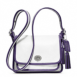COACH ARCHIVAL TWO TONE LEATHER RAMBLER - SILVER/CHALK/MARINE - F22408