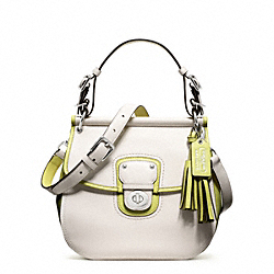 COACH ARCHIVAL TWO TONE LEATHER WILLIS - SILVER/PARCHMENT/CITRINE - F22409