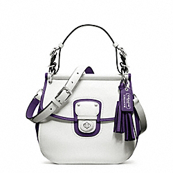 COACH ARCHIVAL TWO TONE LEATHER WILLIS - SILVER/CHALK/MARINE - F22409