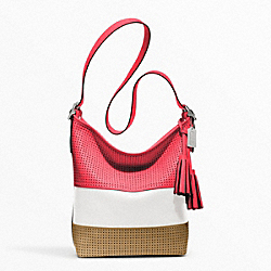 PERFORATED RUGBY STRIPE DUFFLE COACH F22412