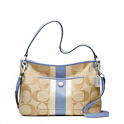 COACH HAMPTONS WEEKEND SIGNATURE STRIPE HIPPIE - ONE COLOR - F22418