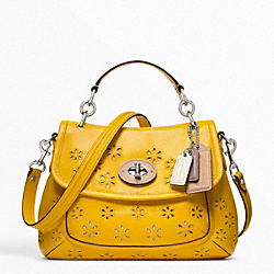 COACH POPPY EYELET LEATHER TOP HANDLE CROSSBODY - ONE COLOR - F22437