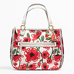 COACH POPPY FLORAL PRINT HALLIE TOTE - ONE COLOR - F22442