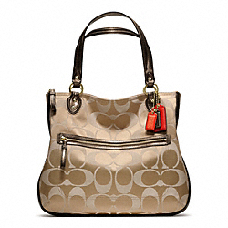 COACH POPPY SIGNATURE SATEEN HALLIE TOTE - ONE COLOR - F22463