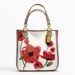 POPPY PLACED FLOWER TOTE - f22479 - 12702