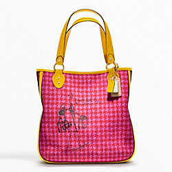 COACH POPPY BONNIE CASHIN HOUNDSTOOTH TOTE - ONE COLOR - F22481