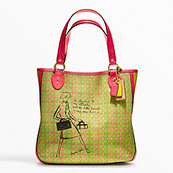 COACH POPPY BONNIE CASHIN PLAID TOTE - ONE COLOR - F22482