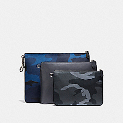 MULTIPURPOSE POUCH SET - CAMO MIX - COACH F22497