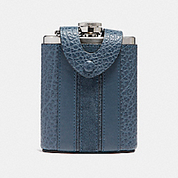 COACH FLASK WITH VARSITY STRIPE - DENIM - F22537