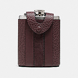 COACH FLASK WITH VARSITY STRIPE - OXBLOOD - F22537