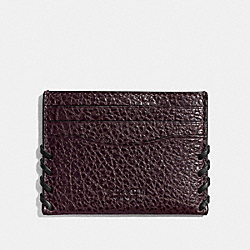 BOXED RIP AND REPAIR CARD CASE - OXBLOOD - COACH F22694