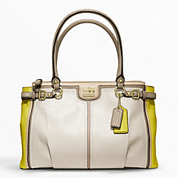 COACH MADISON COLORBLOCK KARA CARRYALL - ONE COLOR - F22701