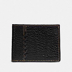 BOXED RIP AND REPAIR SLIM BILLFOLD WALLET - BLACK - COACH F22707