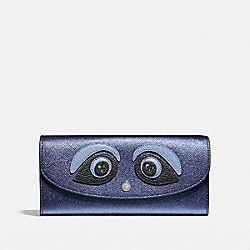 SLIM ENVELOPE WALLET - BLACK ANTIQUE NICKEL/METALLIC NAVY - COACH F22725