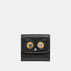 COACH SMALL WALLET - ANTIQUE NICKEL/BLACK - F22730