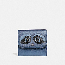 COACH SMALL WALLET - BLACK ANTIQUE NICKEL/METALLIC NAVY - F22731