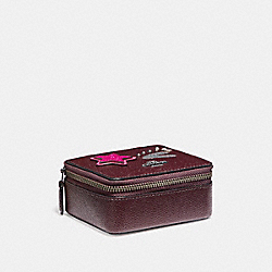 COACH JEWELRY BOX - BLACK ANTIQUE NICKEL/OXBLOOD 1 - F22760