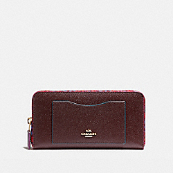 COACH ACCORDION ZIP WALLET WITH EDGEPAINT - IMFCG - F22763