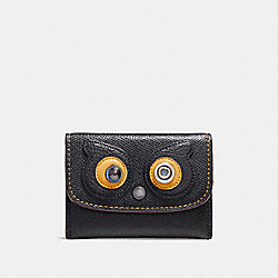 COACH CARD POUCH - ANTIQUE NICKEL/BLACK - F22773
