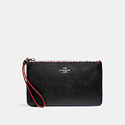 COACH LARGE WRISTLET WITH EDGEPAINT - SILVER/BLACK MULTI - F22790