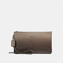 COACH CROSBY CLUTCH - SILVER/FOG - F22799